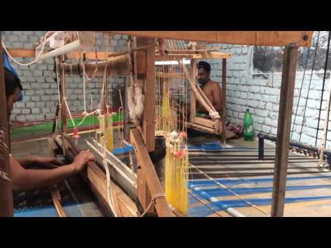 Making of a Pochampally Saree