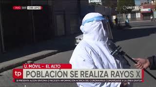 El Alto: la población decide hacerse 'rayos x' para ver el estado de sus pulmones
