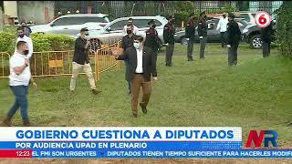 Gobierno cuestiona a Diputados por escoger plenario para audiencia del Presidente por caso UPAD