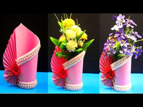 Search Result How To Make A Paper Vase At Home Tomclip