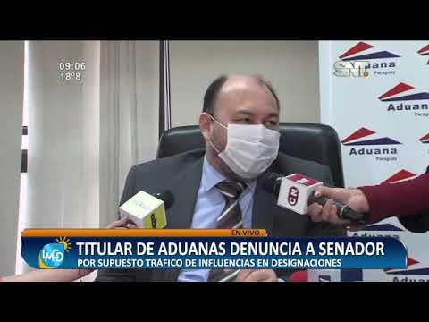 Titular de Aduanas denuncia al Senador Martín Arévalo