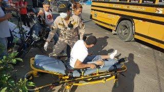 Motociclista lesionado tras colisionar con bus en #SPS