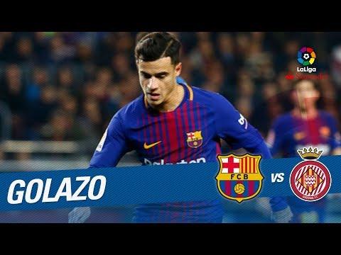 Golazo de Coutinho (5-1) FC Barcelona B vs Girona FC