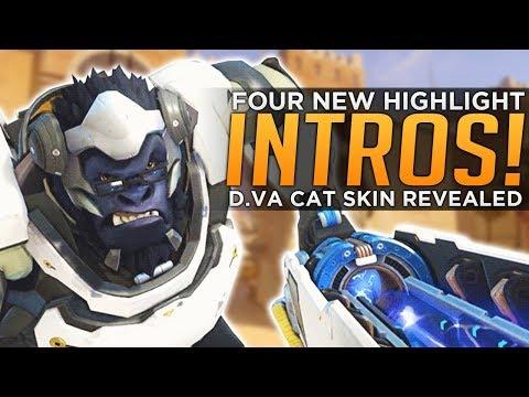 Overwatch: NEW Highlight Intros! D.Va Cat Skin! - Mercy NERF Coming?!