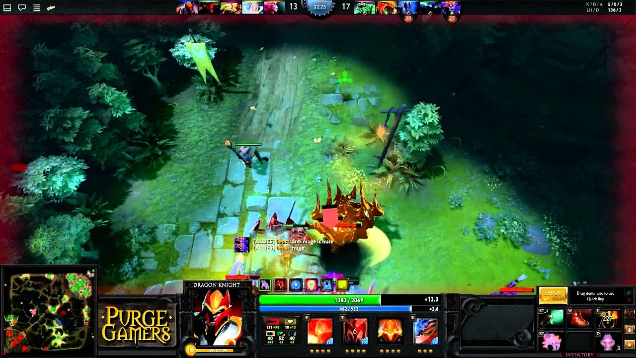 dota 2 purge owns with dragon knight purge gamers