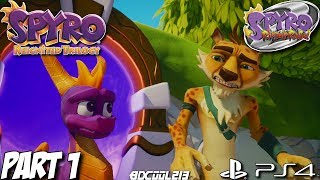 Spyro Reignited Trilogy - Spyro 2 Gameplay Walkthrough Part 1 - Summer Forest World - PS4 Lets Play
