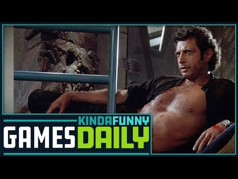 connectYoutube - Jeff Goldblum Comes to Jurassic World Evolution - Kinda Funny Games Daily 03.13.18