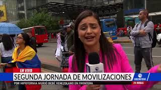Así continúan las movilizaciones en Bogotá, convocadas por Fecode