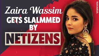 Bollywood actor, Zaira Wassim gets SLAMMED by netizens   Checkout the reason   Tellychakkar - TELLYCHAKKAR