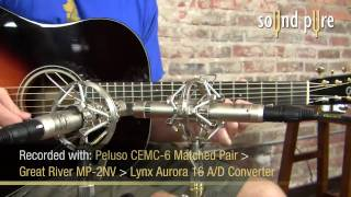 Peluso CEMC6 Microphones Track Brilliant Acoustic Guitars