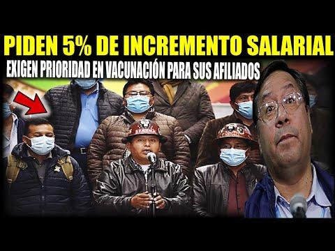 Central Obrera Boliviana pide al Gobierno 5% de incremento y prioridad en la vacunación