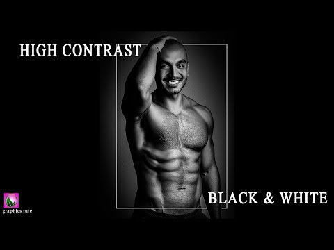 High Contrast Black And White Photo Effect With Camera Raw - Photo Effect - Photoshop CC
