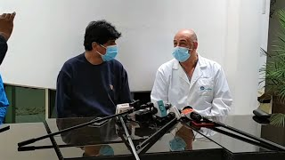 Conferencia de Prensa del estado de Salud de Evo Morales Ayma