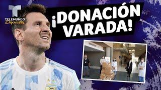 Donación de la Fundación Messi varada en el aeropuerto argentino | Telemundo Deportes
