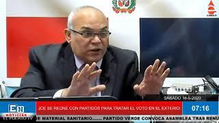 JCE DEFINE ESTE LUNES CON PARTIDO EL VOTO DEL EXTERIOR