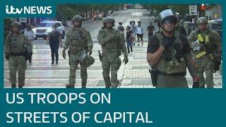 US military deploys across Washington amid protests | ITV News
