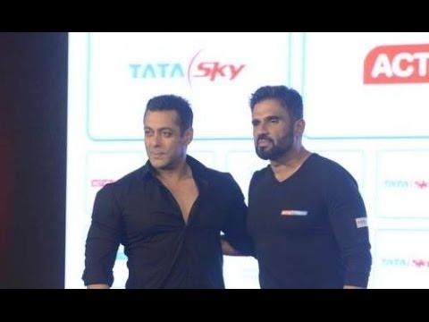 Salman Khan At Suniel Shetty's Fitness Channel Launch