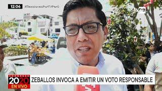"""Vicente Zeballos a la población: """"Su voto es importante"""""""