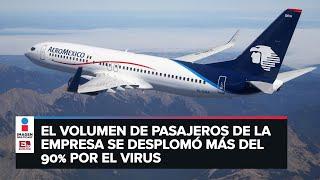 Aeroméxico se declara en quiebra por pandemia
