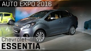 Chevrolet Essentia Compact Sedan :: 2016 Auto Expo WalkAround Video :: ZigWheels India