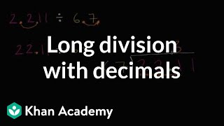 Long division with decimals