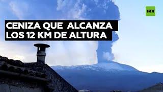 Impactantes imágenes de la novena erupción del volcán Etna en los últimos días