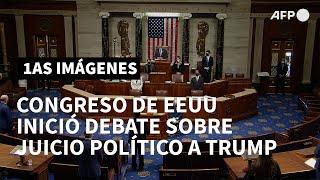 Congreso de EEUU inició debate sobre el juicio político a Trump | AFP