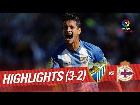 Resumen de Málaga CF vs RC Deportivo (3-2)