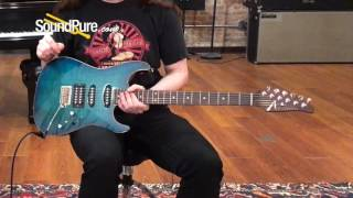 Anderson Drop Top Trans Teal Burst w/ Binding 02-16-16N Quick n' Dirty