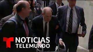 Harvey Weinstein apareció en corte jorobado y caminando con una andadera   Noticias Telemundo