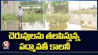 Rain Effect : Padmavathi Colony Still Under Flood Water, Public Facing Problems| V6 News - V6NEWSTELUGU