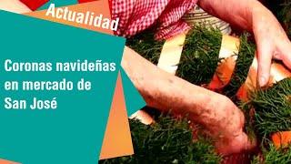 Coronas navideñas de adviento en el mercado de San José | Actualidad