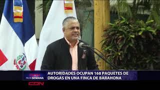 Autoridades ocupan 168 paquetes de drogas en finca de Barahona