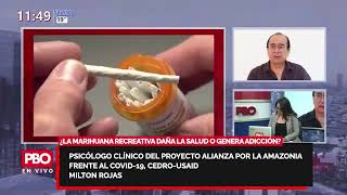 ¿LA MARIHUANA RECREATIVA DAÑA LA SALUD O GENERA ADICCIÓN: Psicólogo clínico Milton Rojas????PBO 91.9FM
