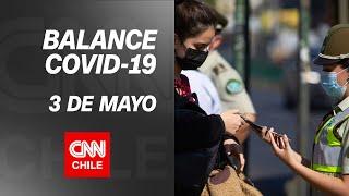 Balance COVID-19 en Chile, 3 de Mayo