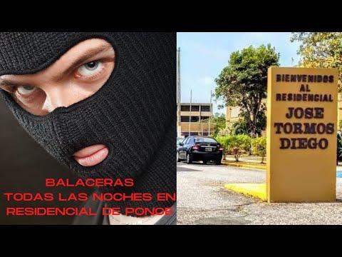 Intensos tir0te0s en Residencial Jose Tormos Diego en Ponce