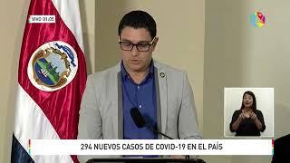 Nuevo récord de casos de coronavirus covid-19 en Costa Rica: casi 300 en un solo día