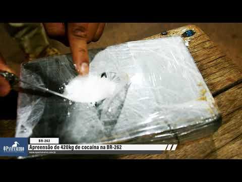 Caminhoneiros que transportavam 420 quilos de cocaína na BR-262