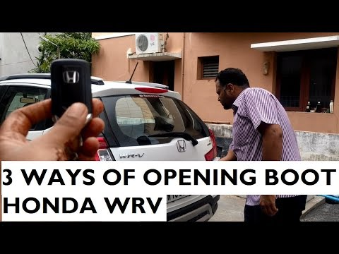 3 Different Ways of Opening The Boot In Honda WRV