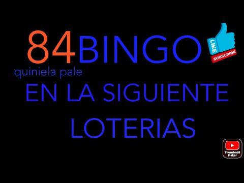 NUMEROS PARA HOY(84)BINGO EN LA QUINIELA PALE