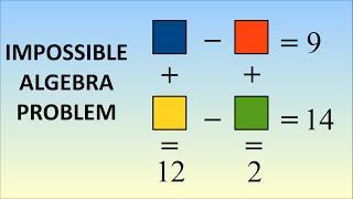 Impossible algebra problem