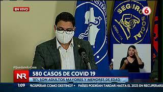 Salud reporta 580 casos nuevos de Covid-19