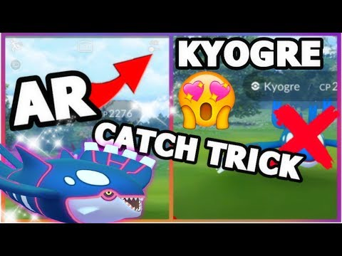 connectYoutube - KYOGRE RAID AR MODE CATCH TRICK IN POKEMON GO IT REALLY WORKS   PRO TIPS