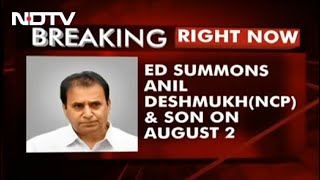 Maharashtra Ex Home Minister, Son Summoned For Alleged Corruption - NDTV