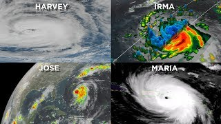 Intense String of Hurricanes Seen From Space