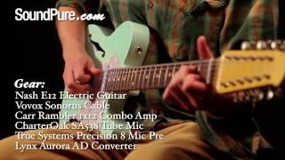 Nash E-12 TL Surf Green 12 String Electric Guitar Demo