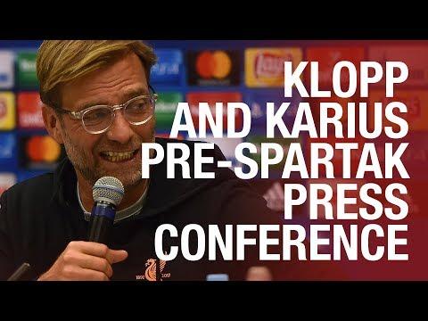 Jürgen Klopp and Loris Karius   LFC's pre-Spartak Moscow press conference