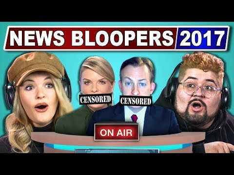 connectYoutube - COLLEGE KIDS REACT TO FUNNIEST NEWS BLOOPERS 2017