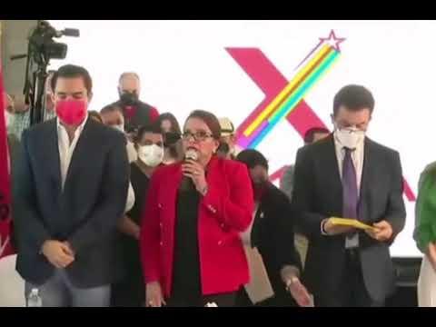 A la d*ctadura hoy le hemos puesto #FIN Afirma Xiomara Castro formalizando la ALIANZA con Nasralla