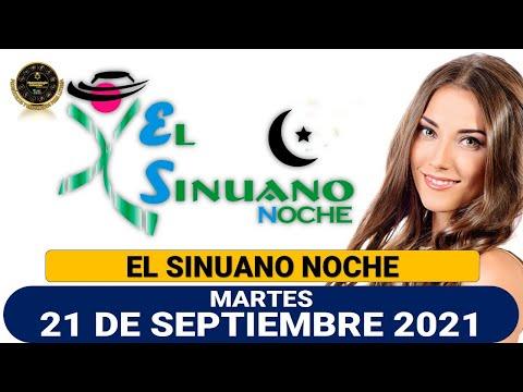 Resultados SINUANO NOCHE martes 21 de septiembre de 2021